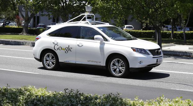 A Google self-driving car is tested in Mountain View, California (AP)