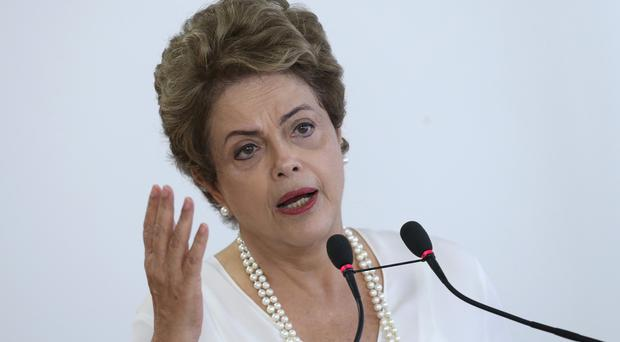 Brazil's President Dilma Rousseff speaks during a ceremony where she signed a presidential decree giving tax breaks to companies that join the