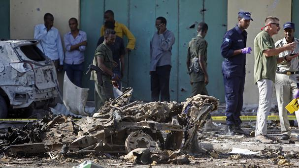 The car exploded in Somali capital Mogadishu (AP)