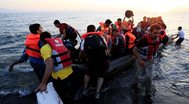 The Syrian migrants were put on a small boat to Greece despite bad weather and it sank