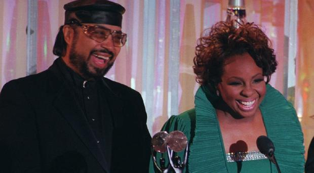 William Guest and Gladys Knight during the Rock and Roll Hall of Fame ceremonies (AP)