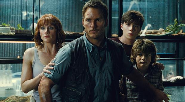 A scene from Jurassic World, which notched up the biggest debut weekend until it was bested by Star Wars: The Force Awakens (Universal Pictures/AP)
