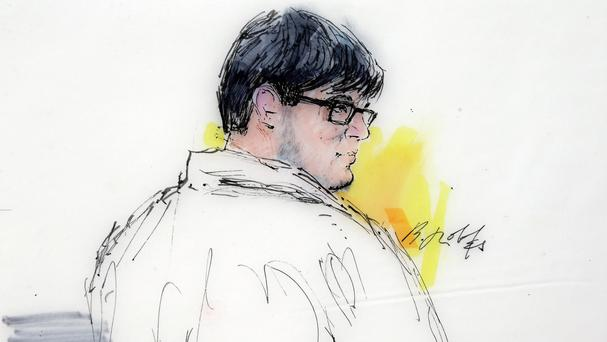 A courtroom sketch of Enrique Marquez, who authorities say bought the assault rifles his friend used in the San Bernardino massacre (AP)