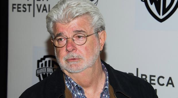 Star Wars creator George Lucas says he misspoke and used a 'very inappropriate analogy' (Invision/AP)