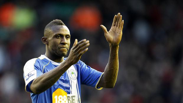 Steve Gohouri pictured during his Wigan days