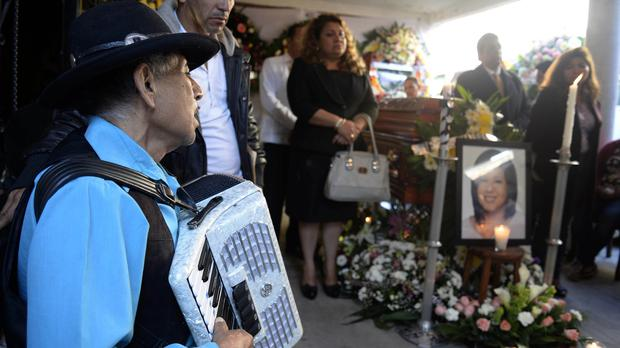 The wake of mayor of Temixco, Gisela Mota, at her home in Temixco, Mexico. (AP)