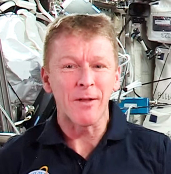 Thrilled: Tim Peake