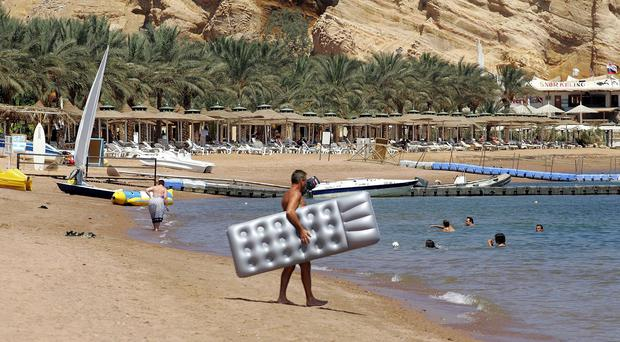 Three European tourists who were stabbed at a Red Sea resort in Egypt were only lightly wounded and are in stable condition