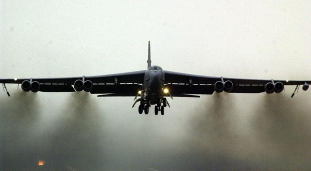 The B-52 returned to its base in Guam after the flight, the US military said
