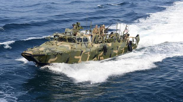 A Riverine Command Boat from Costal Riverine Squadron 2 in the Persian Gulf (US Navy/AP)