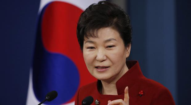 South Korean president Park Geun-hye urged China to help punish Pyongyang's recent nuclear test (Pool photo/AP)