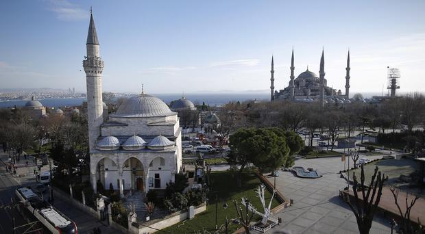 The trio were arrested in raids a day after an explosion went off in the historic Sultanahmet district of Istanbul (AP)