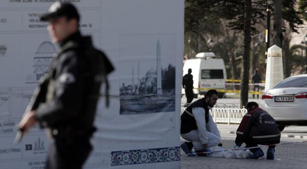 The attack came a day after a suicide bomber detonated explosives in Istanbul's main tourist district, killing 10 Germans (AP)