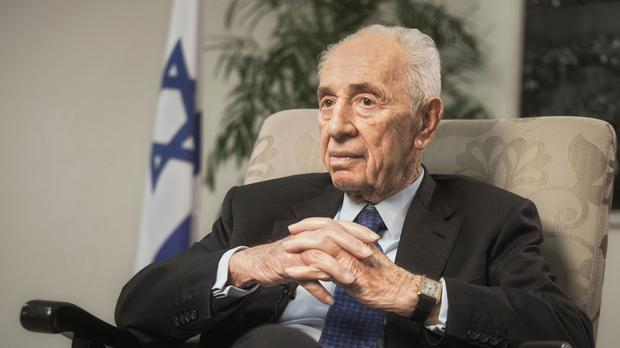 Shimon Peres won the Nobel Peace Prize in 1994 following the signing of the Oslo peace accords with the Palestinians (AP)