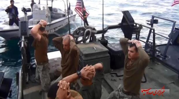 The US sailors are detained by Iranian Revolutionary Guards in the Persian Gulf (IRIB News Agency/AP)