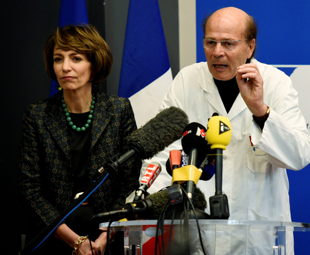 French Social Affairs and Health Minister Marisol Touraine and Professor Gilles Edan, head of the neuroscience unit, give a Press conference yesterday at the Pontchaillou Hospital in Rennes