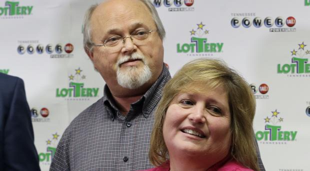 Powerball winners John and Lisa Robinson (AP)