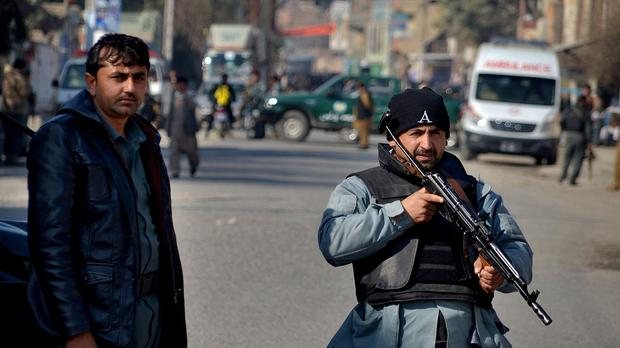 Security officials said Afghan troops fighting the Taliban desperately need reinforcements (AP)
