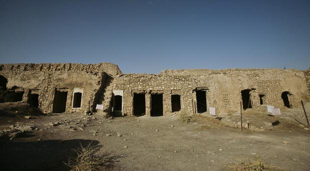 A photo from November showing St Elijah's Monastery on the outskirts of Mosul, Iraq (AP)