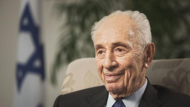 Former Israeli president Shimon Peres was rushed to hospital after experiencing chest pains (AP)