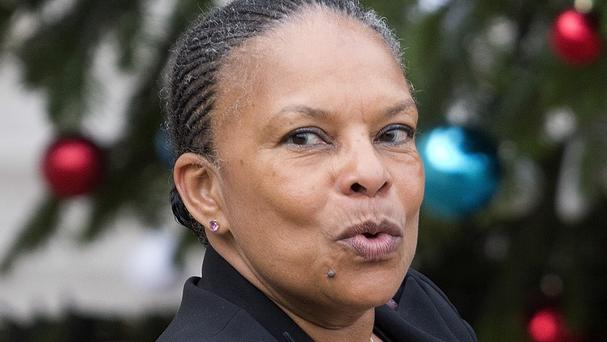French justice minister Christiane Taubira objected to the push to revoke citizenship from convicted terrorists with dual nationality (AP)