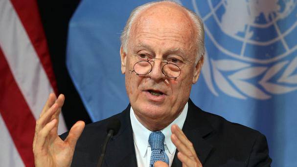 Staffan de Mistura is the UN Special Envoy for Syria (AP)