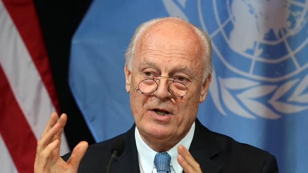 Staffan de Mistura will meet with members of the main Syrian opposition group. (AP)