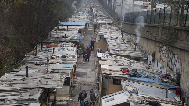 Police have cleared the camp that housed hundreds of Roma. (AP)