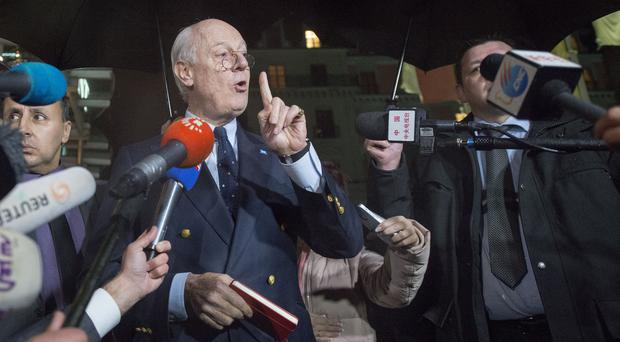 Staffan de Mistura said it was not the end of the talks, and they had not failed (AP)