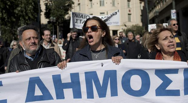 Anti-austerity protests in central Athens (AP)