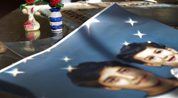 Family photos in the home of Adnan Syed's mother in Baltimore. (AP)