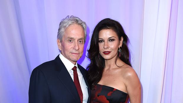 Michael Douglas and Catherine Zeta-Jones attend AARP's 15th Annual Movies for Grownups Awards at the Beverly Wilshire Hotel (AP)