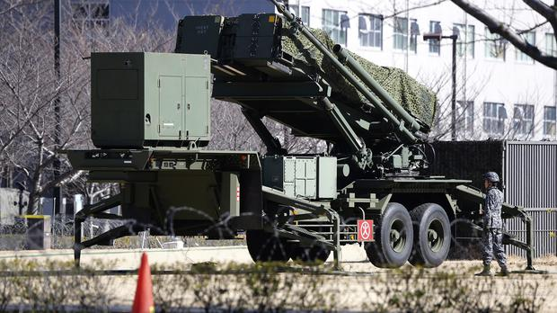 A PAC-3 Patriot missile unit deployed in Tokyo after North Korea's rocket launch (AP)