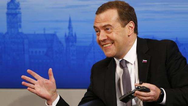 Dmitry Medvedev claims Nato is aggravating tensions (AP)