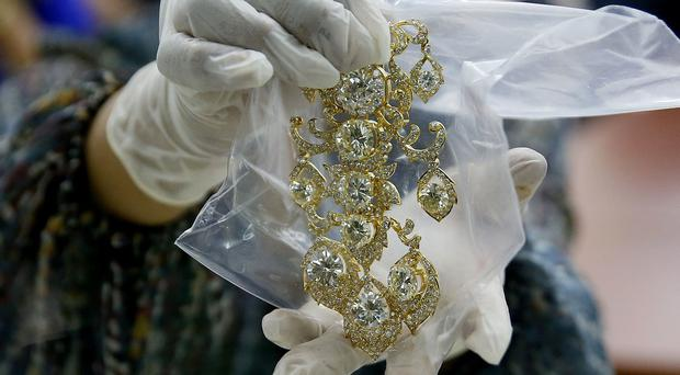 An item from Roumeliotes Collection, one of three sets of the Marcos jewellery collection (AP)