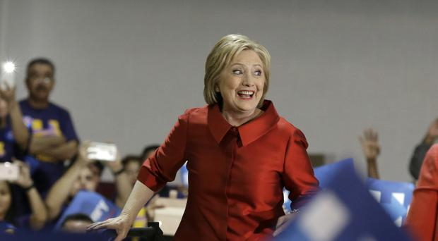 Hillary Clinton speaks at a rally at Texas Southern University (AP)