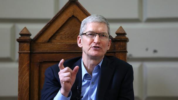 Apple chief executive Tim Cook said hacking the locked phone would set a