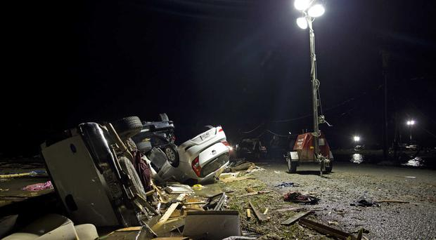 Destruction at the Sugar Hill RV Park in Convent, Louisiana (AP)