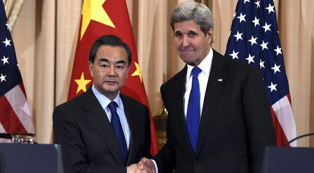 US secretary of state John Kerry held talks with Chinese foreign minister Wang Yi in Washington (AP)