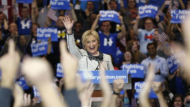 Hillary Clinton celebrates victory in South Carolina (AP)