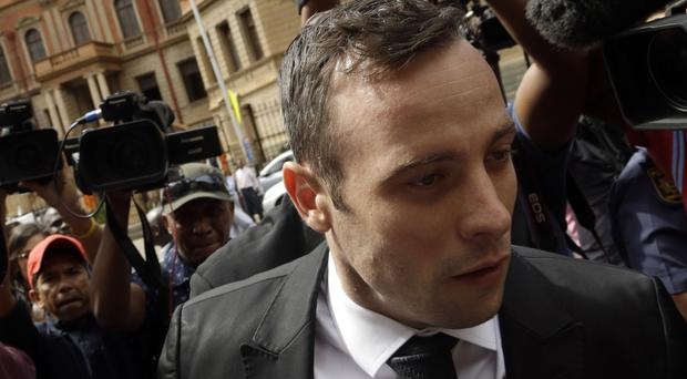 Oscar Pistorius outside court in Pretoria, South Africa (AP)