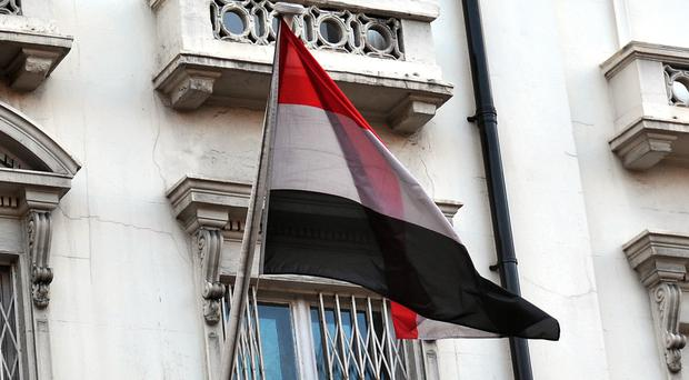 The Embassy of the Republic of Yemen, in Cromwell Road west London.