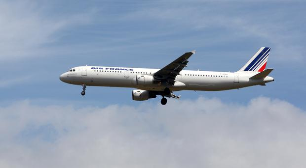 A baby was found hidden in a bag belonging to a passenger on board an Air France plane