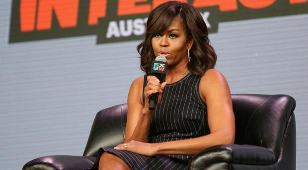 First lady Michelle Obama speaks during the panel discussion (AP)