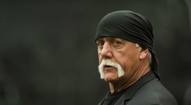 Former professional wrestler Hulk Hogan arrives at the courtroom (AP)