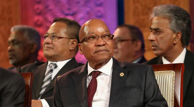 South African President Jacob Zuma has rejected the allegations