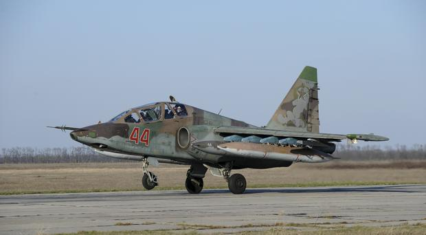 Russian planes have been supporting the Syrian army (AP)