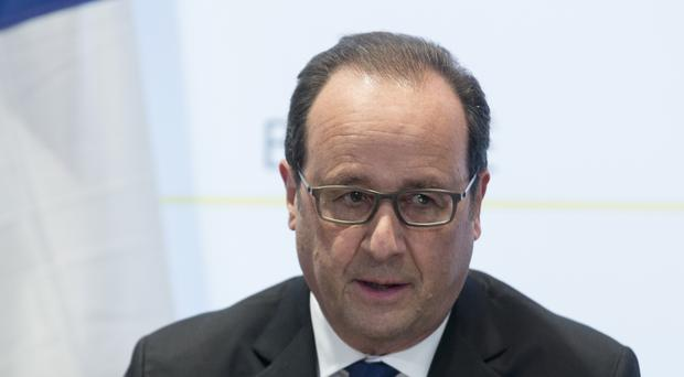 French president Francois Hollande said he was sure the Belgian authorities would respond to the extradition request as quickly and as favourably as possible (AP)