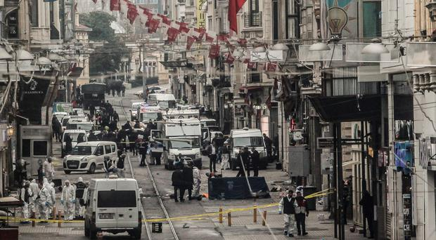 Emergency services at the scene in Istanbul