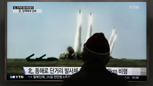 North Korea fired short-range projectiles into the sea, according to Seoul officials